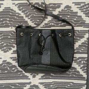 Vintage Fendi Leather Bucket Bag, Cinch closure